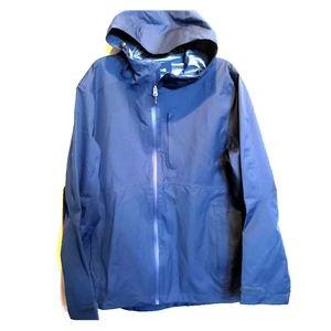 Swiss Tech unisex sz large hooded navy raincoat